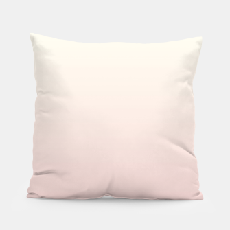 Miniatur Pastel pink beige duotone gradient ombre summer stylish color pure soft light blush monochrome Pillow, Live Heroes