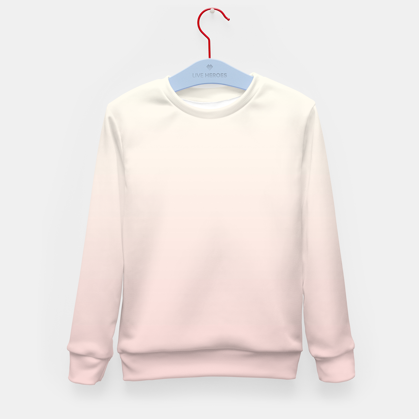 Image of Pastel pink beige duotone gradient ombre summer stylish color pure soft light blush monochrome Kid's sweater - Live Heroes