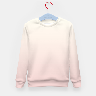 Pastel pink beige duotone gradient ombre summer stylish color pure soft light blush monochrome Kid's sweater thumbnail image
