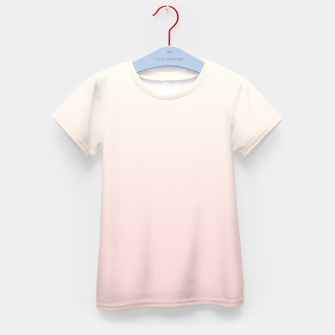 Miniatur Pastel pink beige duotone gradient ombre summer stylish color pure soft light blush monochrome Kid's t-shirt, Live Heroes