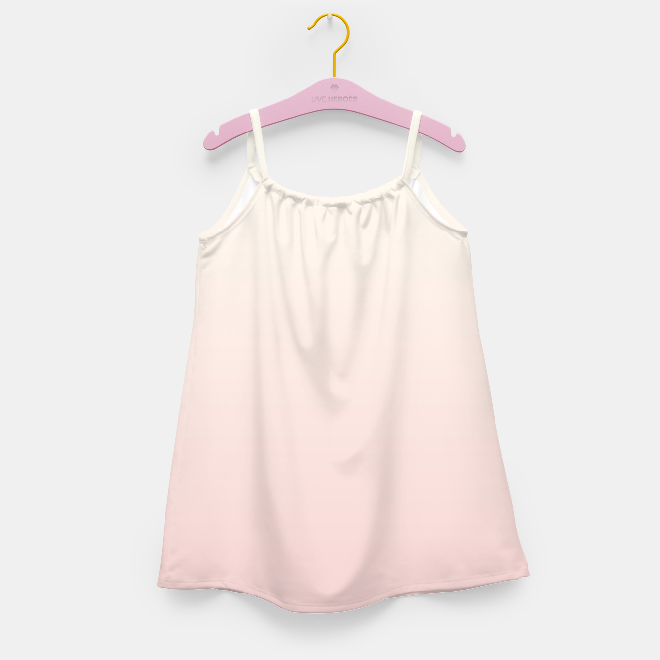 Image of Pastel pink beige duotone gradient ombre summer stylish color pure soft light blush monochrome Girl's dress - Live Heroes