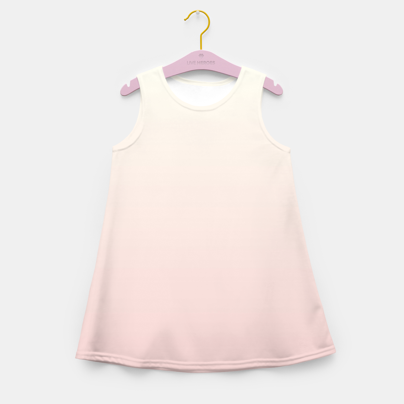Image of Pastel pink beige duotone gradient ombre summer stylish color pure soft light blush monochrome Girl's summer dress - Live Heroes