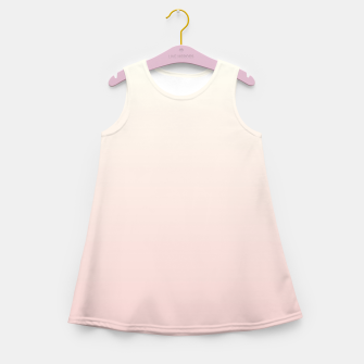 Pastel pink beige duotone gradient ombre summer stylish color pure soft light blush monochrome Girl's summer dress thumbnail image