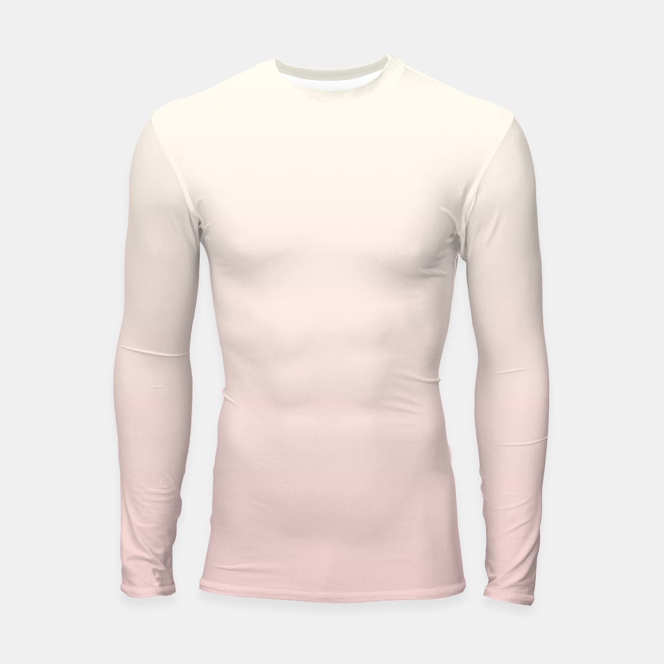 Image of Pastel pink beige duotone gradient ombre summer stylish color pure soft light blush monochrome Longsleeve rashguard  - Live Heroes