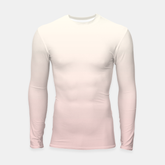 Pastel pink beige duotone gradient ombre summer stylish color pure soft light blush monochrome Longsleeve rashguard  thumbnail image
