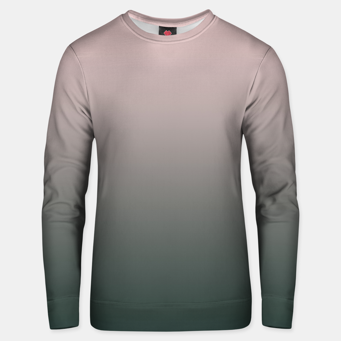 Image of Pastel pink dark green black gradient ombre stylish color pure soft modern monochrome Unisex sweater - Live Heroes