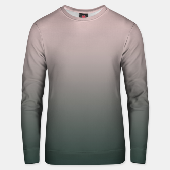 Thumbnail image of Pastel pink dark green black gradient ombre stylish color pure soft modern monochrome Unisex sweater, Live Heroes