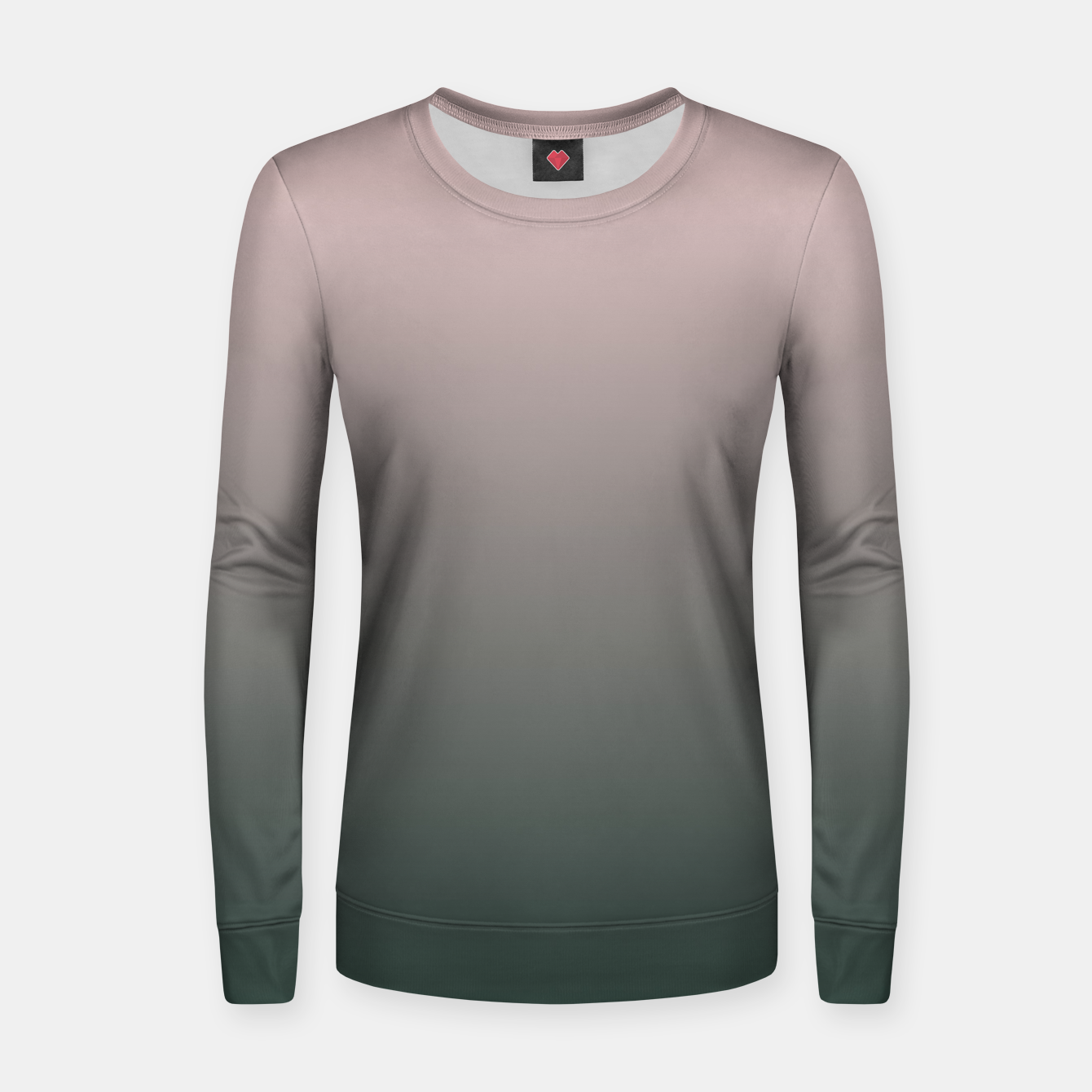 Image of Pastel pink dark green black gradient ombre stylish color pure soft modern monochrome Women sweater - Live Heroes