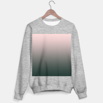 Miniatur Pastel pink dark green black gradient ombre stylish color pure soft modern monochrome Sweater regular, Live Heroes