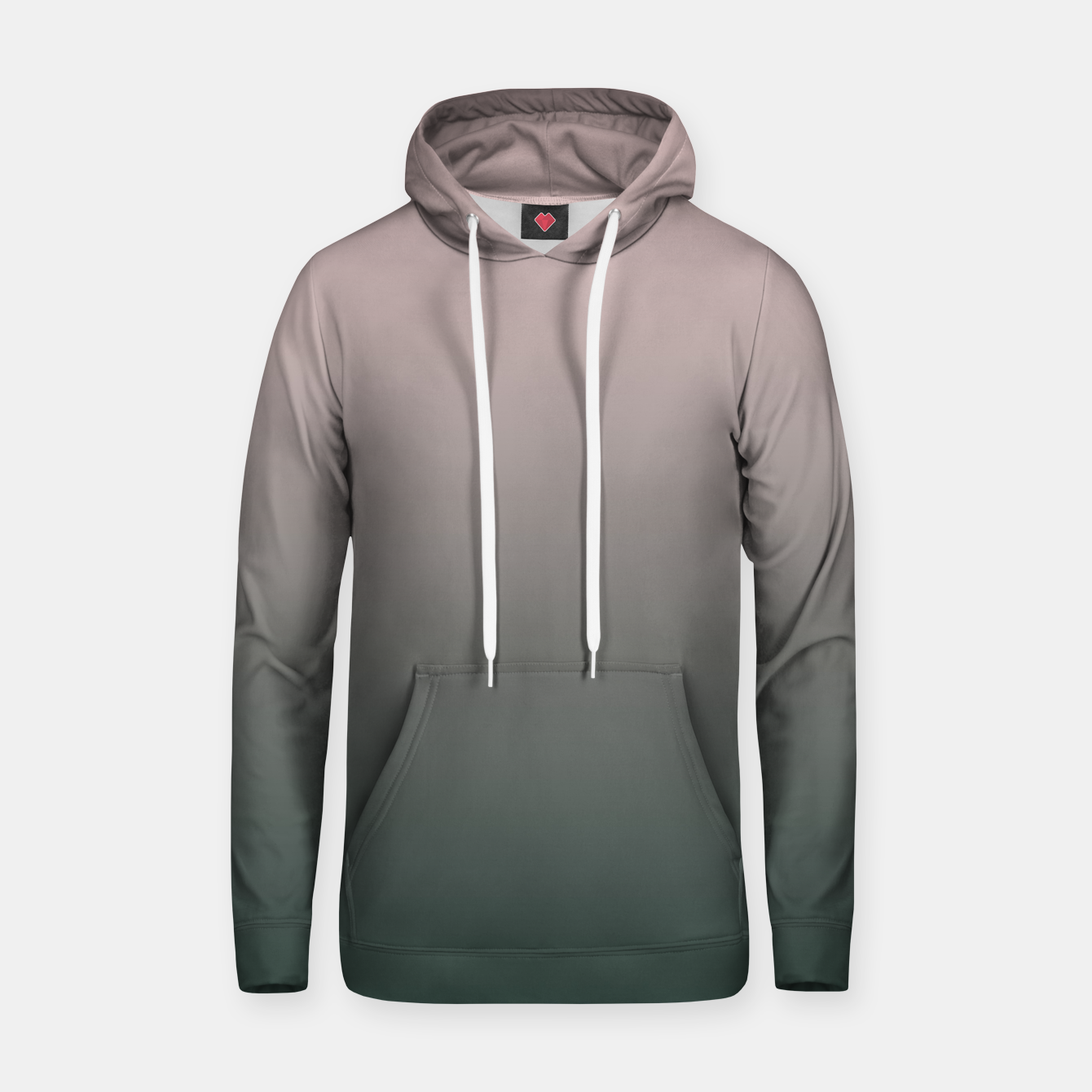 Image of Pastel pink dark green black gradient ombre stylish color pure soft modern monochrome Hoodie - Live Heroes