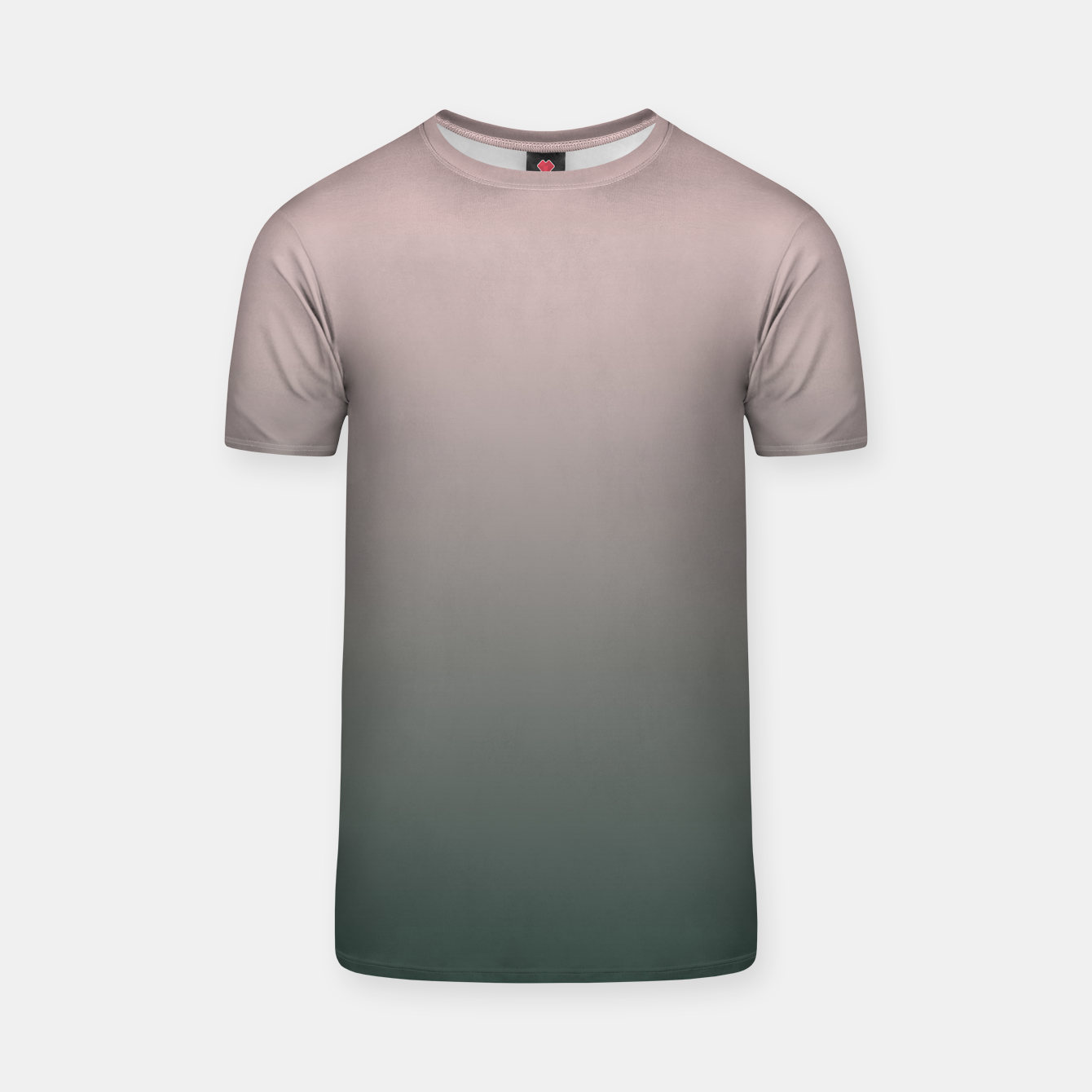 Image of Pastel pink dark green black gradient ombre stylish color pure soft modern monochrome T-shirt - Live Heroes