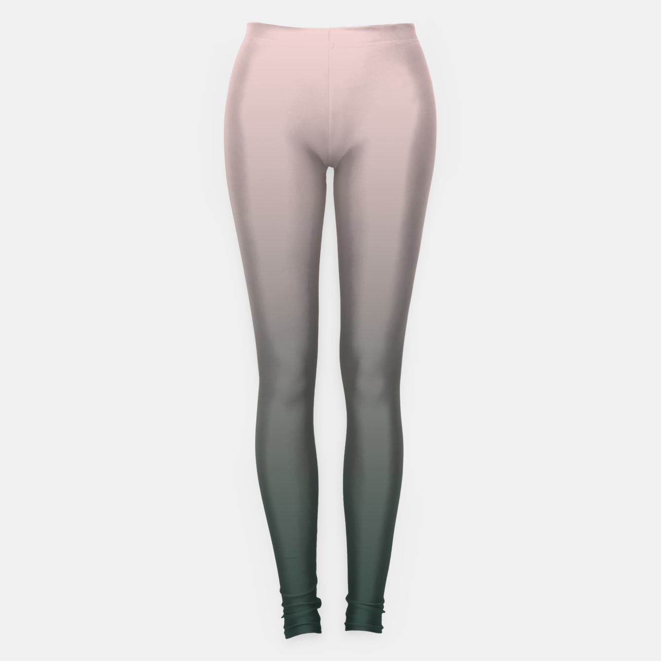 Image of Pastel pink dark green black gradient ombre stylish color pure soft modern monochrome Leggings - Live Heroes