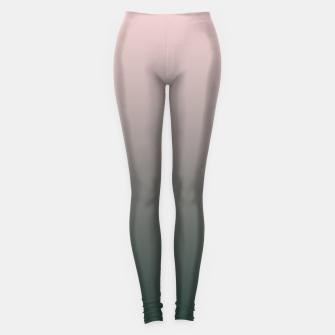 Thumbnail image of Pastel pink dark green black gradient ombre stylish color pure soft modern monochrome Leggings, Live Heroes