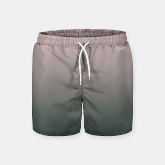 Miniatur Pastel pink dark green black gradient ombre stylish color pure soft modern monochrome Swim Shorts, Live Heroes