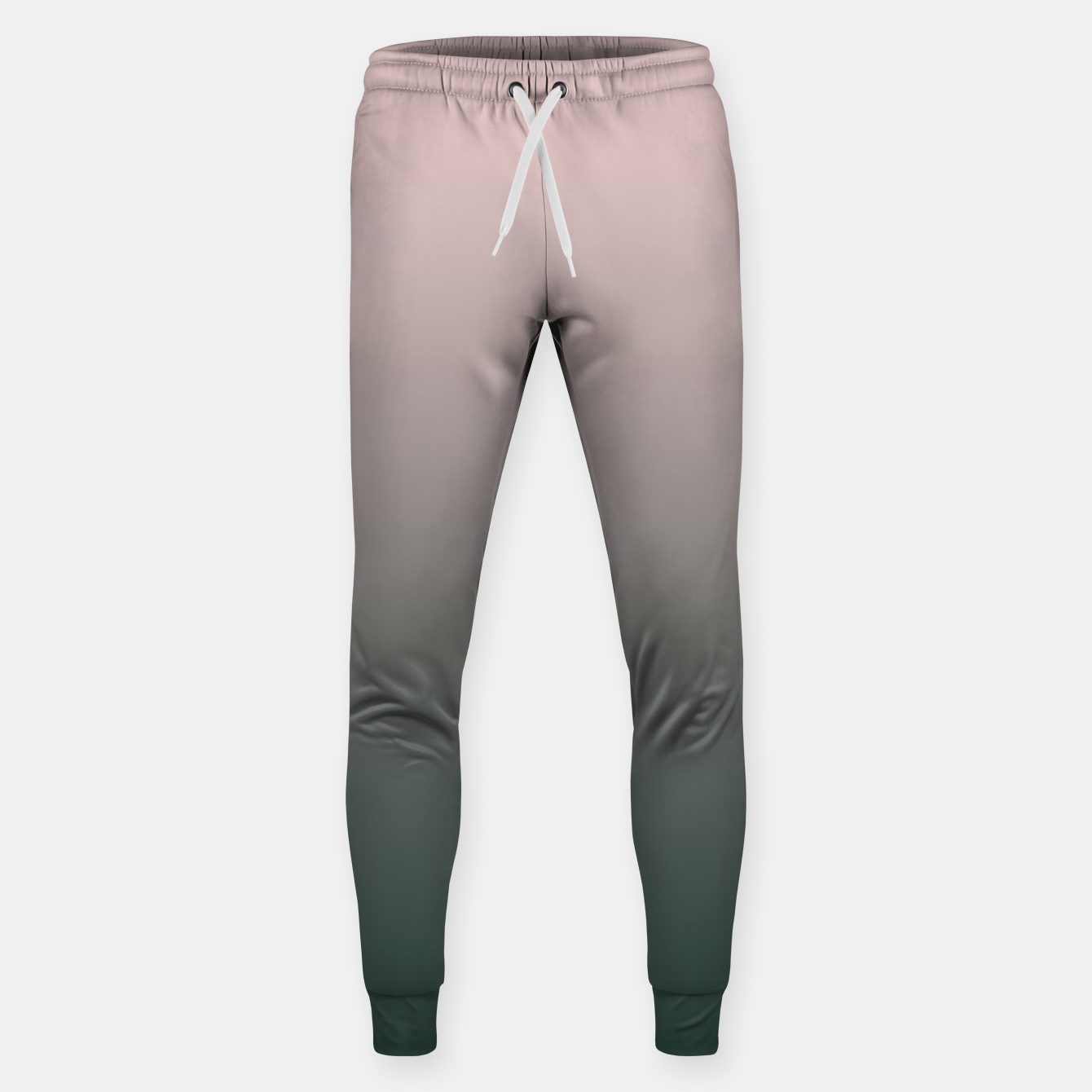 Image of Pastel pink dark green black gradient ombre stylish color pure soft modern monochrome Sweatpants - Live Heroes