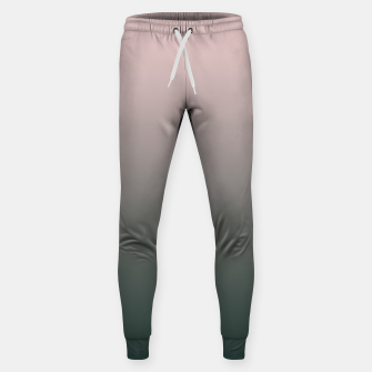 Miniatur Pastel pink dark green black gradient ombre stylish color pure soft modern monochrome Sweatpants, Live Heroes