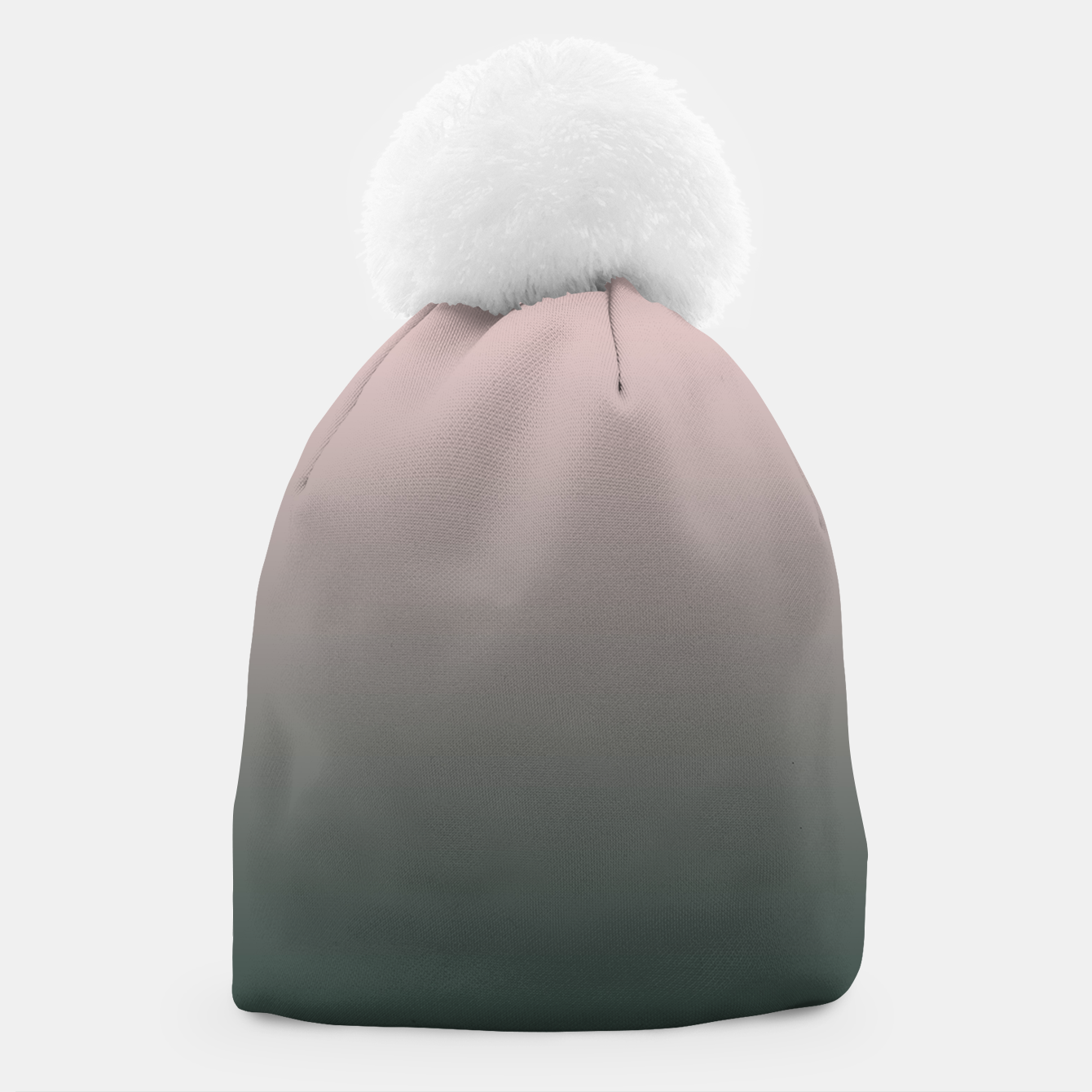 Image of Pastel pink dark green black gradient ombre stylish color pure soft modern monochrome Beanie - Live Heroes