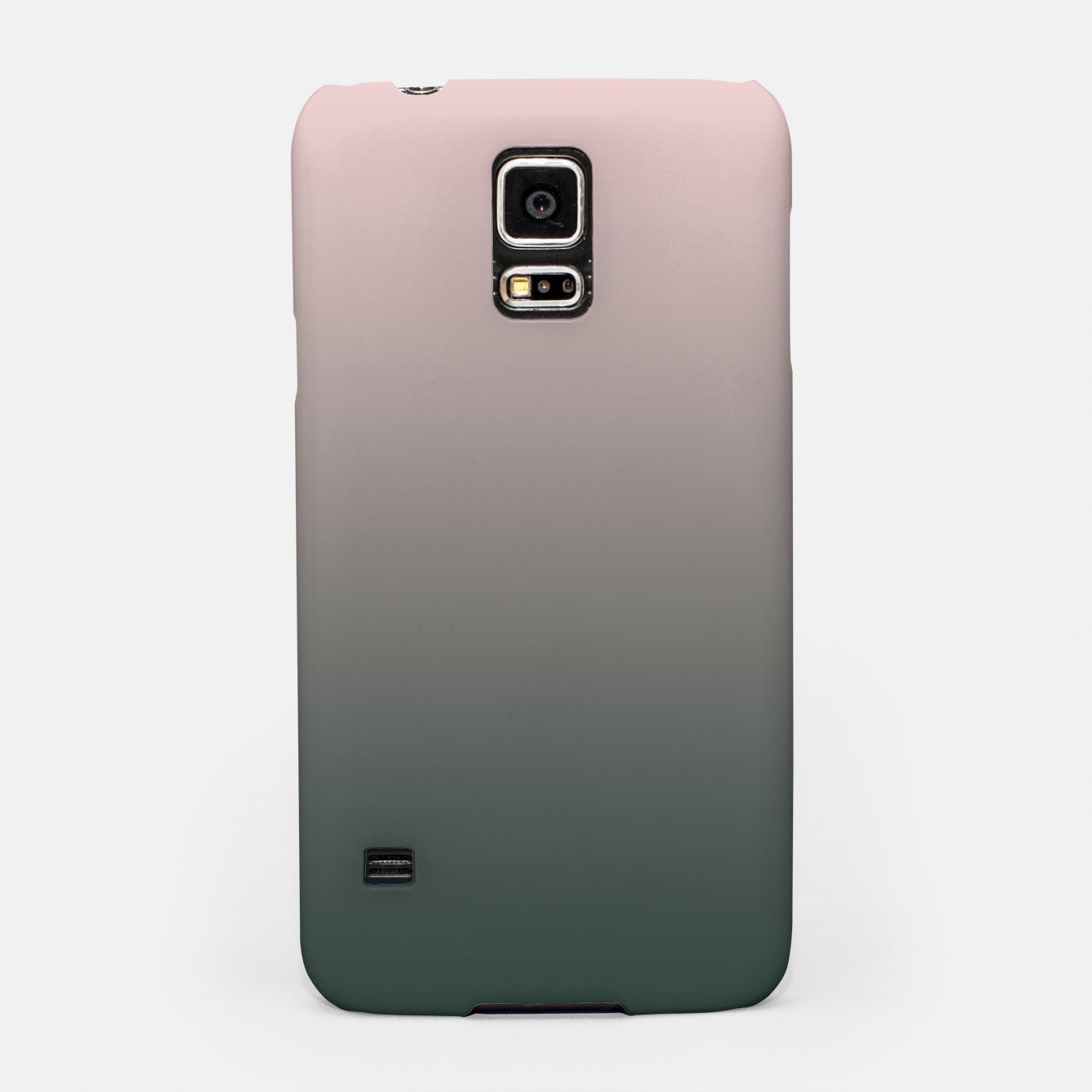 Image of Pastel pink dark green black gradient ombre stylish color pure soft modern monochrome Samsung Case - Live Heroes