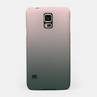 Pastel pink dark green black gradient ombre stylish color pure soft modern monochrome Samsung Case thumbnail image