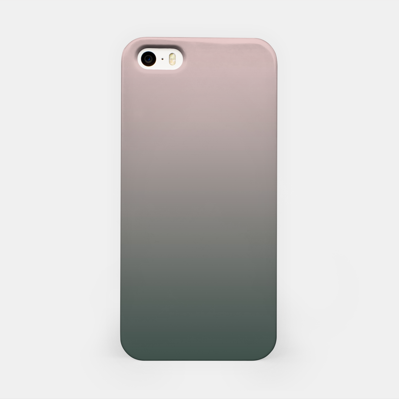 Image of Pastel pink dark green black gradient ombre stylish color pure soft modern monochrome iPhone Case - Live Heroes