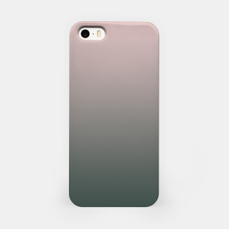 Pastel pink dark green black gradient ombre stylish color pure soft modern monochrome iPhone Case thumbnail image
