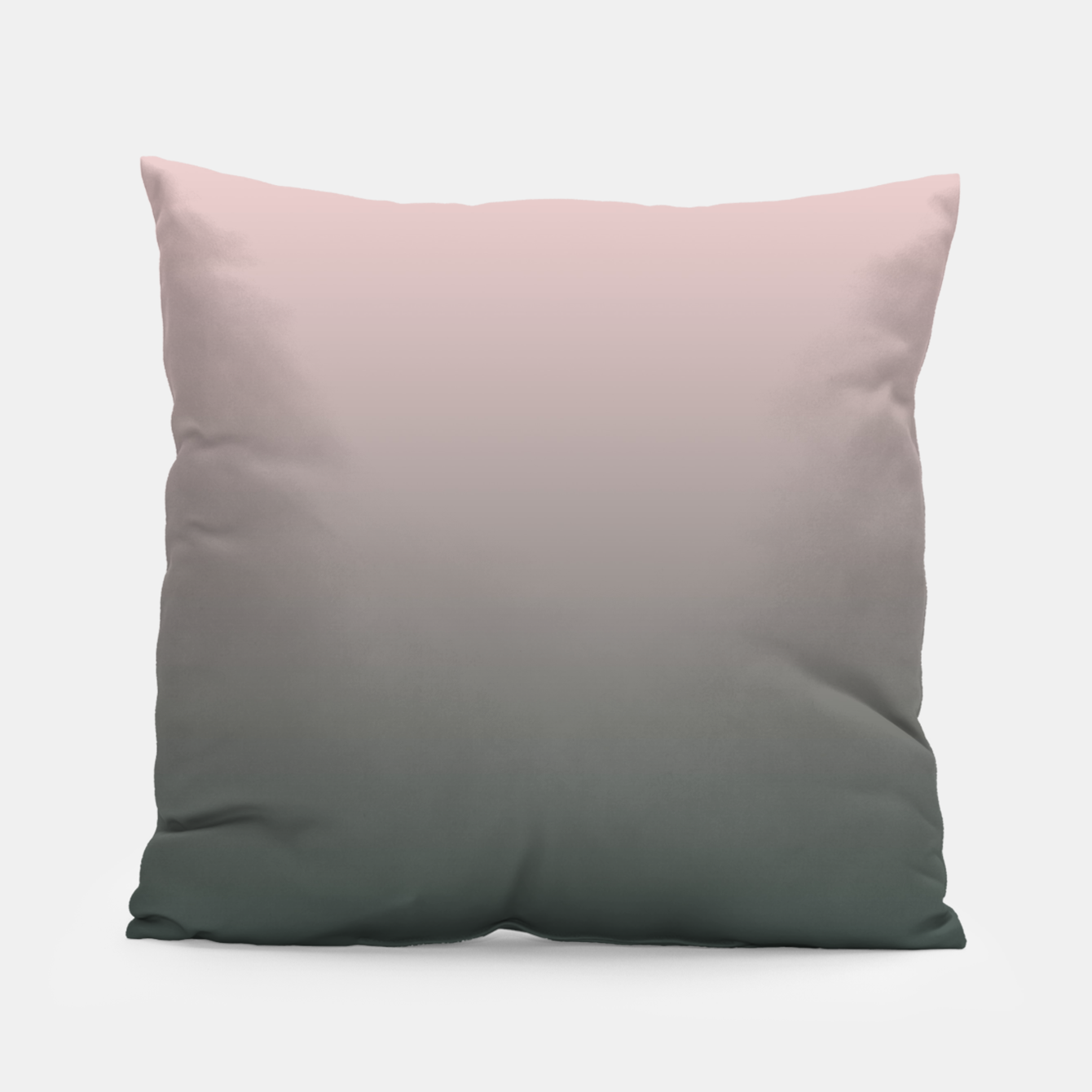 Image of Pastel pink dark green black gradient ombre stylish color pure soft modern monochrome Pillow - Live Heroes