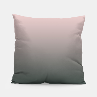 Miniatur Pastel pink dark green black gradient ombre stylish color pure soft modern monochrome Pillow, Live Heroes