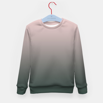 Imagen en miniatura de Pastel pink dark green black gradient ombre stylish color pure soft modern monochrome Kid's sweater, Live Heroes