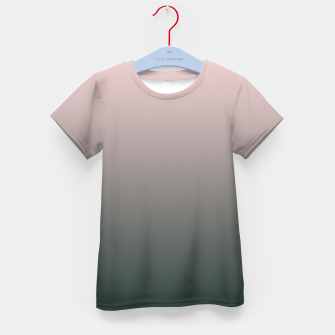 Pastel pink dark green black gradient ombre stylish color pure soft modern monochrome Kid's t-shirt thumbnail image