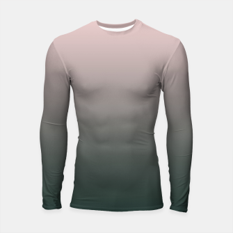 Thumbnail image of Pastel pink dark green black gradient ombre stylish color pure soft modern monochrome Longsleeve rashguard , Live Heroes