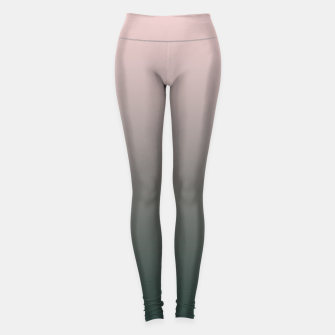 Pastel pink dark green black gradient ombre stylish color pure soft modern monochrome Leggings thumbnail image