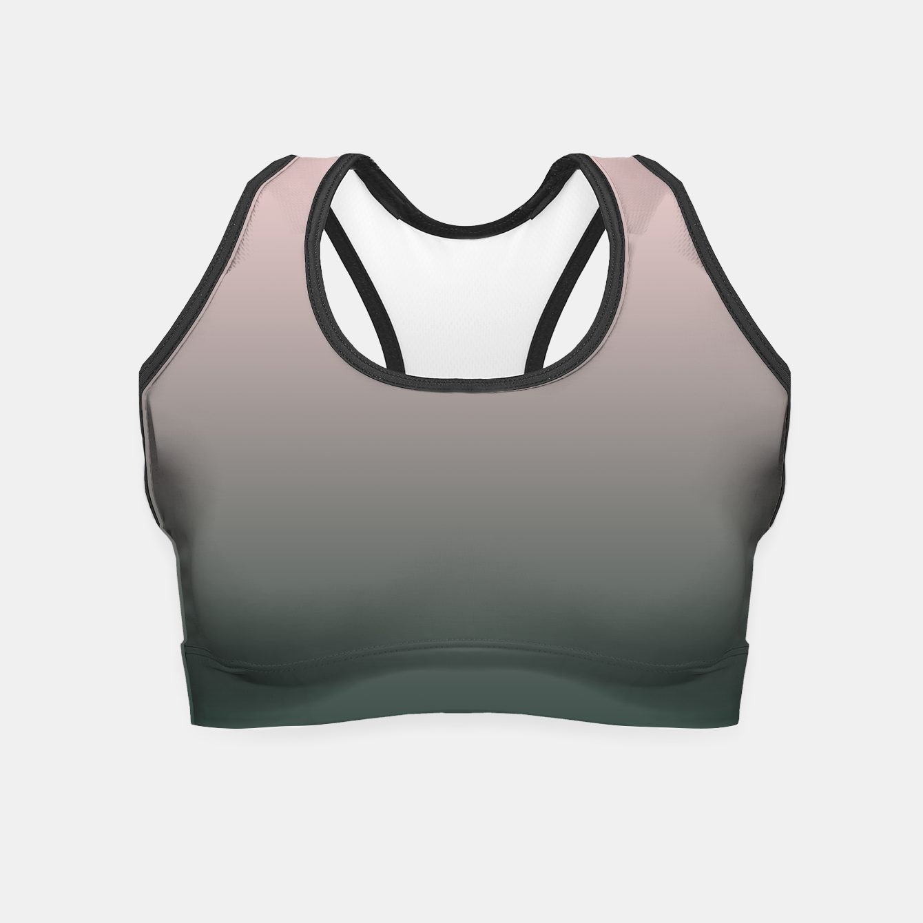 Image of Pastel pink dark green black gradient ombre stylish color pure soft modern monochrome Crop Top - Live Heroes