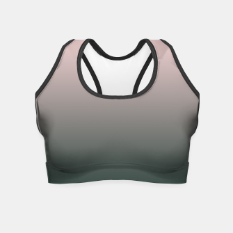 Thumbnail image of Pastel pink dark green black gradient ombre stylish color pure soft modern monochrome Crop Top, Live Heroes