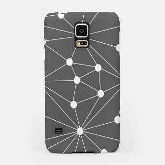 Imagen en miniatura de Abstract geometric pattern - gray and white. Samsung Case, Live Heroes
