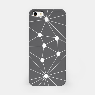 Thumbnail image of Abstract geometric pattern - gray and white. iPhone Case, Live Heroes
