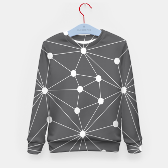 Imagen en miniatura de Abstract geometric pattern - gray and white. Kid's sweater, Live Heroes