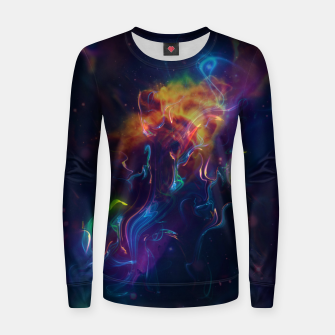 Space smoke Women sweater obraz miniatury