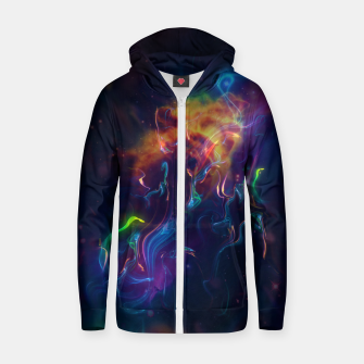 Thumbnail image of Space smoke Zip up hoodie, Live Heroes