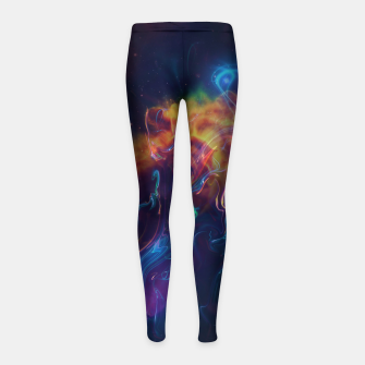 Space smoke Girl's leggings obraz miniatury