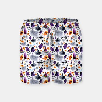 Thumbnail image of Halloween Swim Shorts, Live Heroes