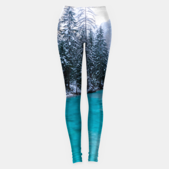 Thumbnail image of Magical river in enchanted winter forest Leggings, Live Heroes