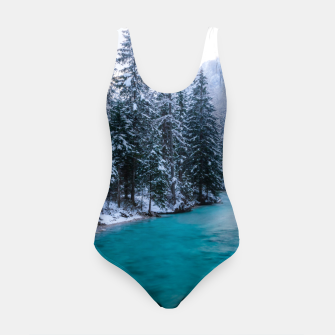 Thumbnail image of Magical river in enchanted winter forest Swimsuit, Live Heroes