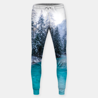 Thumbnail image of Magical river in enchanted winter forest Sweatpants, Live Heroes