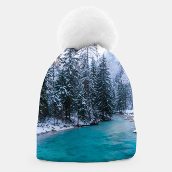 Thumbnail image of Magical river in enchanted winter forest Beanie, Live Heroes