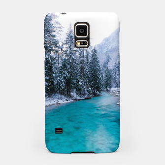 Thumbnail image of Magical river in enchanted winter forest Samsung Case, Live Heroes