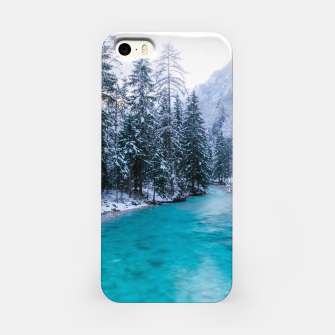 Thumbnail image of Magical river in enchanted winter forest iPhone Case, Live Heroes
