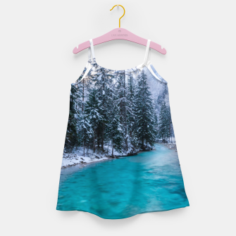 Thumbnail image of Magical river in enchanted winter forest Girl's dress, Live Heroes