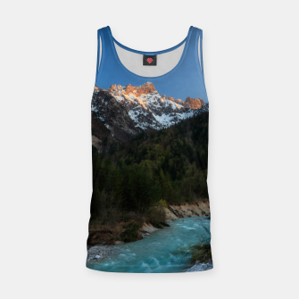 Thumbnail image of Magical sunset over the mountains and river Tank Top, Live Heroes