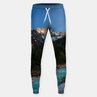 Thumbnail image of Magical sunset over the mountains and river Sweatpants, Live Heroes