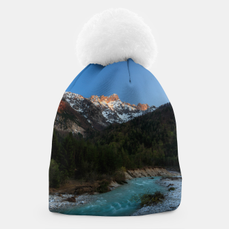 Thumbnail image of Magical sunset over the mountains and river Beanie, Live Heroes